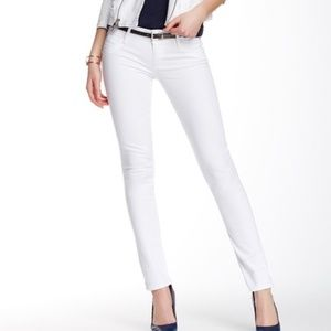 Hudson Collin White Skinny Jeans Mid-Rise